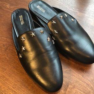 Michael Kors Blue Leather Natasha Star Mules